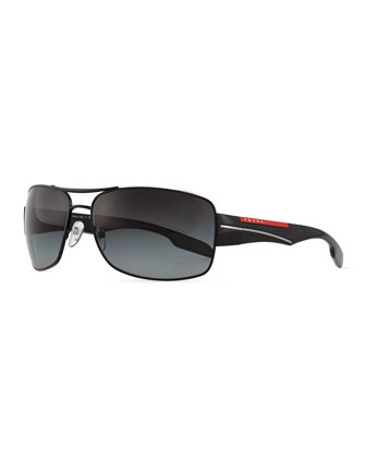 Sport Pilot Sunglasses, Black