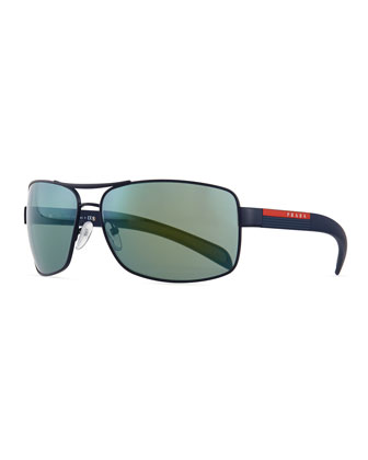 Sport PS541S Sunglasses, Black/Green