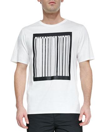 Bonded Barcode Logo Tee Shirt, White
