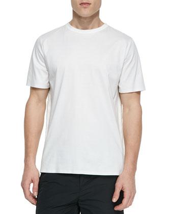 3D Back Foam-Injected Pattern Shirt, White