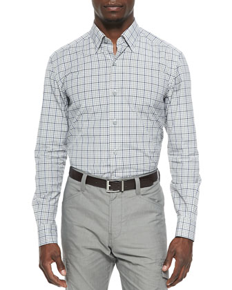 Large-Check Sport Shirt