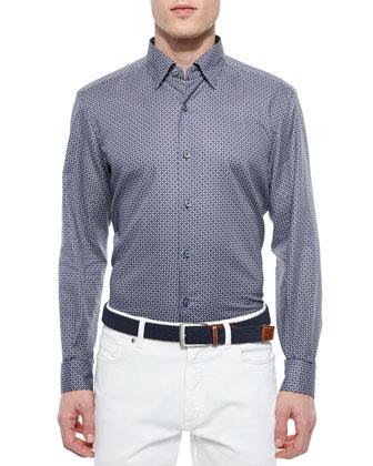 Chris Wool Blouson Jacket, Geometric-Print Woven Sport Shirt & Five-Pocket ...