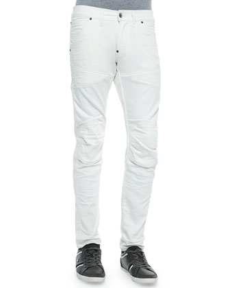 5620 Straight 3D Slim Denim Jeans, White