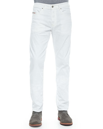 Buster 0830G Straight Jeans, White