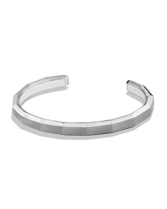 Faceted Sterling Silver Cuff Bracelet