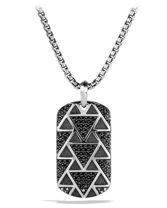 Frontier Tag with Black Diamonds Necklace