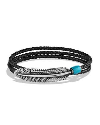 Frontier Feather Wrap Bracelet