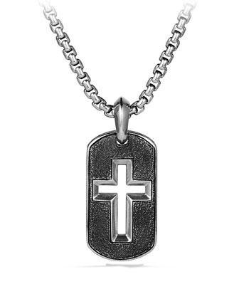 Cross Tag Chain Necklace