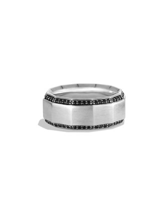 Faceted Metal Band Ring