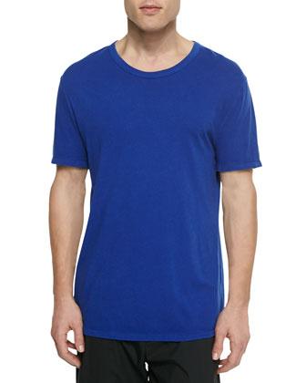 Short-Sleeve Crewneck Jersey Tee, Blue