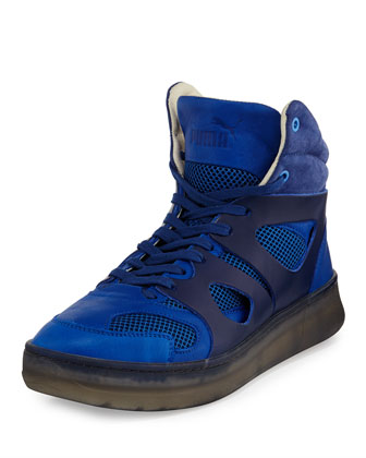 Move Mid High-Top Sneakers, Blue