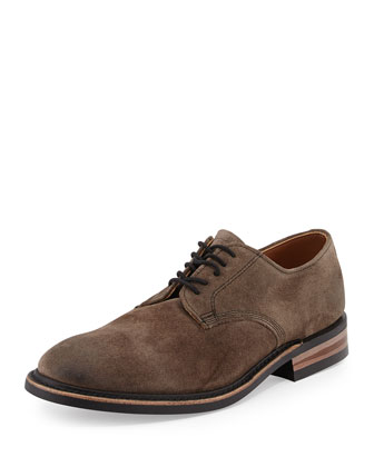Kingston Suede Lace-Up Derby, Gray