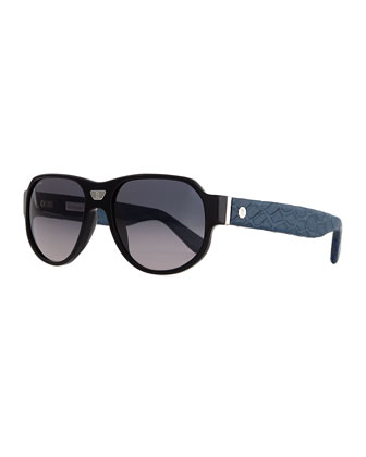 Sunglasses with Crocodile Arms, Royal