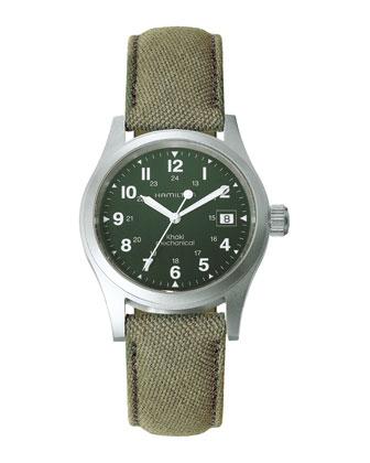 Khaki Field Officer Mechanical Watch, Green