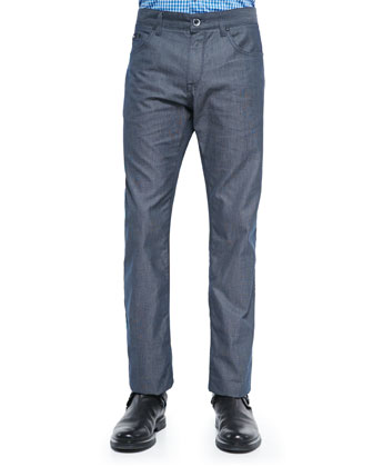 Pinpoint Optic 5-Pocket Pants