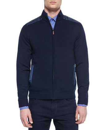 Reversible Full-Zip Jacket, Navy