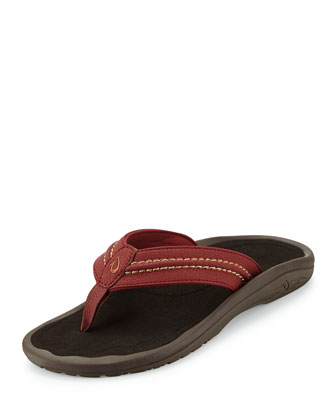 Hokua Thong Sandal, Dark Java/Red Earth