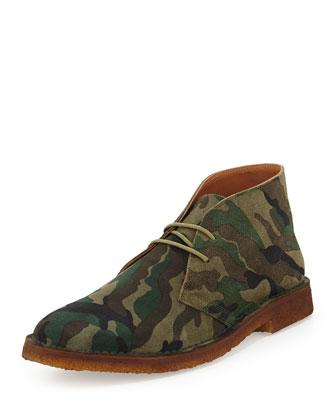 Leather Chukka Boot, Olive/Camo