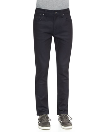Thin Finn Dry Straight-Leg Jeans, Navy