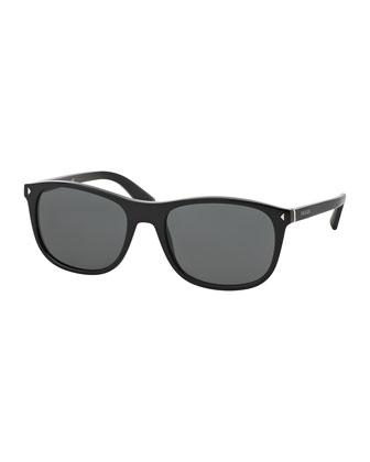 Acetate Sunglasses, Black