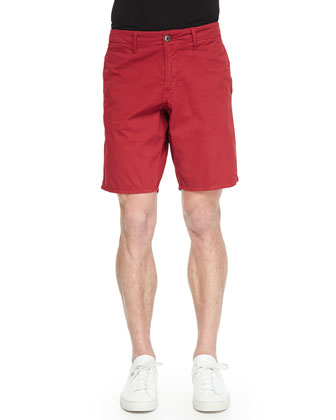 Bedford Cord Cotton Shorts, Red