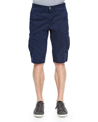 Bedford Cord Slim-Fit Cargo Shorts, Navy