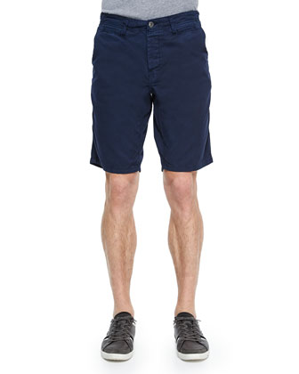 Cotton-Twill Shorts, Navy
