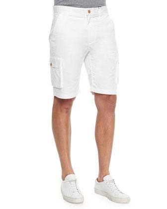 Globetrotter Cargo Shorts, White