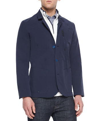 Bismark Three-Button Sport Jacket, Harbor Quarter-Zip Pullover Sweater & ...
