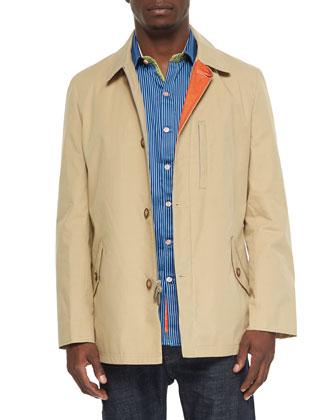 Saipan Woven Rain Jacket & Beachcomber Striped Sport Shirt