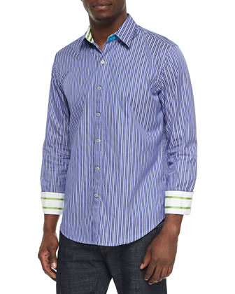 SS Minnow Tailored Fit Sport Shirt, Eggplant