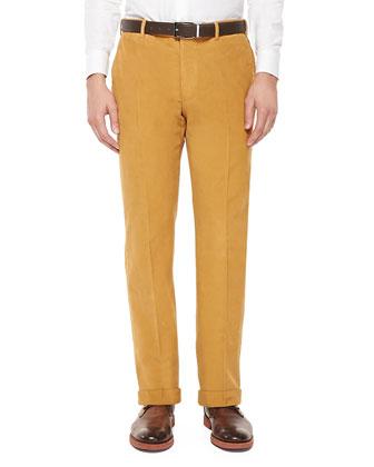 Fine-Wale Corduroy Trousers, Gold