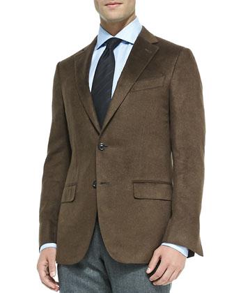 Heathered Silk Jacket, Brown