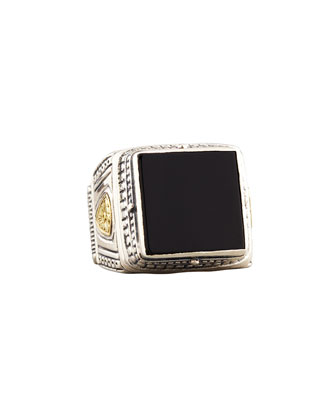 Myrmidones Men's Onyx Square Ring