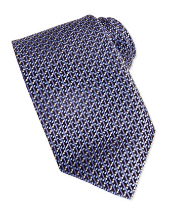 Basket Weave Tie, Purple
