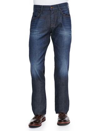 Austyn Prism Straight-Leg Jeans, Blue