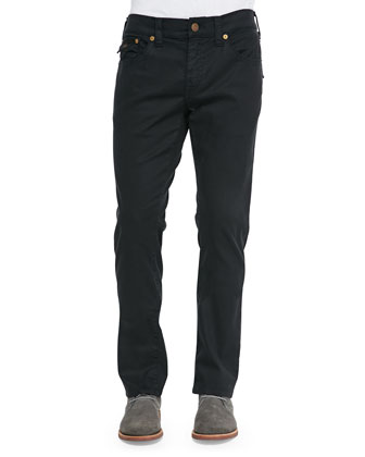 Geno Overdye Five-Pocket Jeans, Black