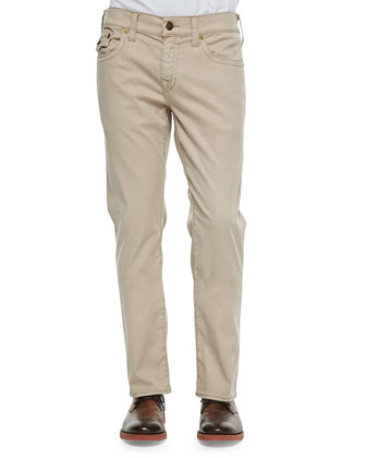 Geno Overdyed Five-Pocket Pants, Tan