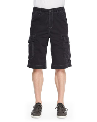 Trooper Cargo Shorts, Black