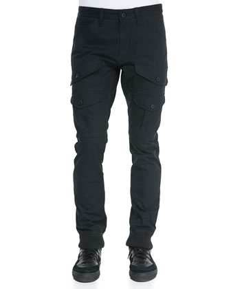 Residents Cargo Jogging Pants, Black