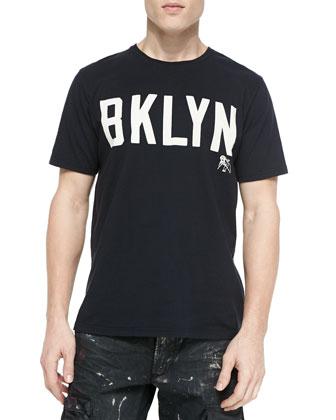 Brooklyn Logo Short-Sleeve Tee, Black