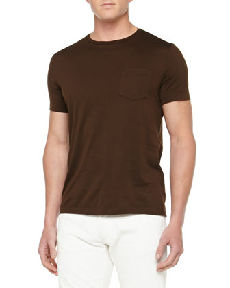 Jersey Pocket Tee, Brown