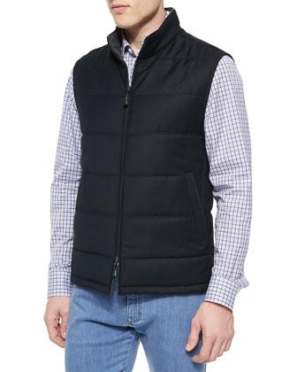 Reversible Pique-Wool Vest, Box-Check Long-Sleeve Shirt & PBJ Stretch-Denim ...