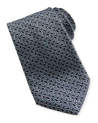 Micro-Teardop Woven Tie, Gray