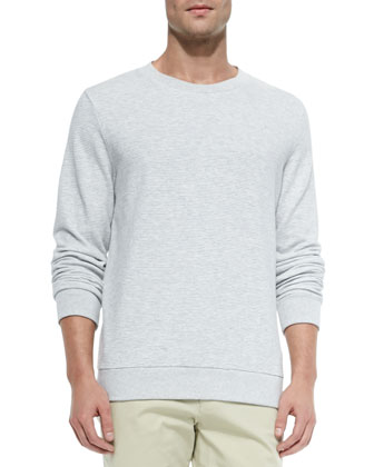 Striped Crewneck Sweatshirt & Bermuda Cotton-Blend Shorts