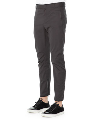 Skinny Biker Trousers, Anthracite