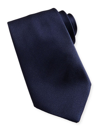 Textured Solid Tie, Navy
