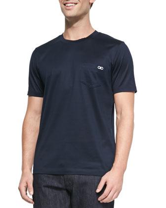 Gancini Crewneck T-Shirt, Navy