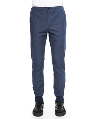 City Ankle-Zip Jogger Pants, Blue