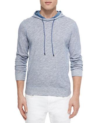 Melange Slub Hooded Sweatshirt
